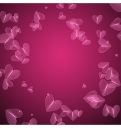 Pink pattern with heart vector