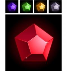 stylized gems vector image