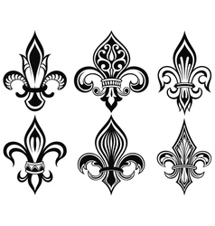 Fleur de lys vintage design icons vector image