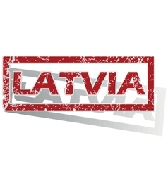 Latvia outlined stamp vector