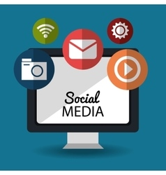 Social media and networking design vector