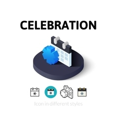 Celebration icon in different style vector