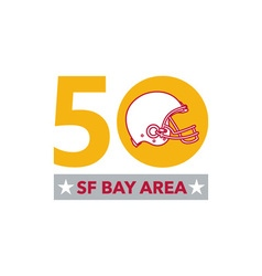 50 pro football championship sf bay area vector