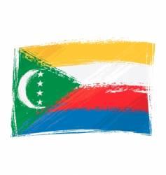 grunge Comoros flag vector image
