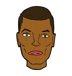 Comic cartoon serious male face vector