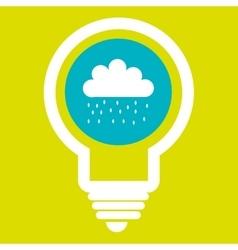 rain cloud isolated icon design vector image