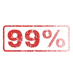99 percent rubber stamp vector