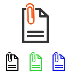Attach document flat icon vector