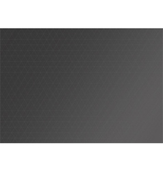 Black grid background with triangle line vector image