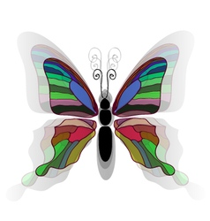 Butterfly background2 vector