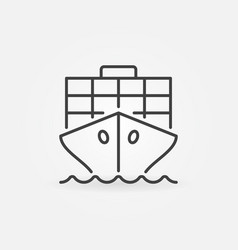 Cargo ship outline icon vector