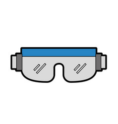 Cute snowboard protective glasses vector