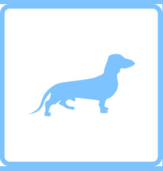 dachshund dog icon vector image
