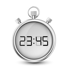 digital stopwatch isolated on white background vector image