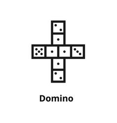 domino line icon vector image vector image