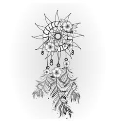 Doodle dreamcatcher vector image