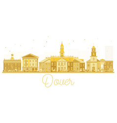 dover usa city skyline golden silhouette vector image