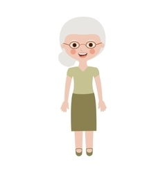 Elderly woman dressed with glasses vector