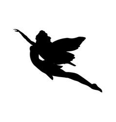 Fairy silhouette fairytale fantasy magical vector