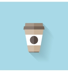 Flat web icon Coffee cup vector image