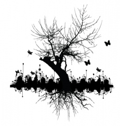 graphic tree vector image