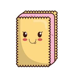 Kawaii ice cream icon vector