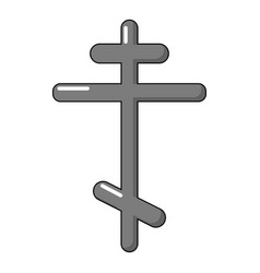 Orthodox cross icon cartoon style vector