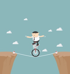 Overcome obstacles in life vector image vector image