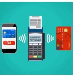 Pos terminal confirms the payment vector