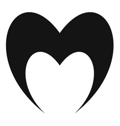 Prophetic heart icon simple style vector