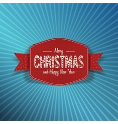 Realistic Christmas and New Year red Label vector image vector image