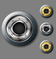 Safe combination lock set vector image