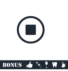 Stop icon flat vector image