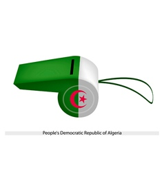 White and Green Whistle of Alderney Flag vector image vector image