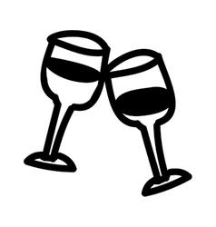 Wine glasses cartoon icon image vector