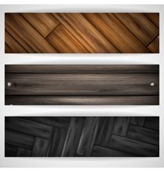 Wooden grey banner vector image vector image