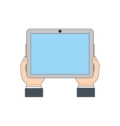 tablet display technology icon vector image