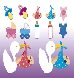 Clip images baby shower girl and boy vector