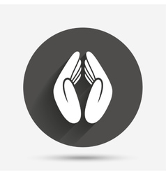 Pray hands sign icon religion priest symbol vector
