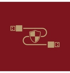 The secure connection icon Transfer and vector image