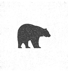 Vintage bear mascot symbol or icon in rough vector