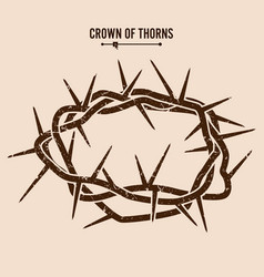 Crown of thorns silhouette of a crown of thorns vector