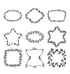 Hand drawn doodle laurels and wreaths vector