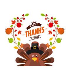 Happy thanksgiving celebration poster vector