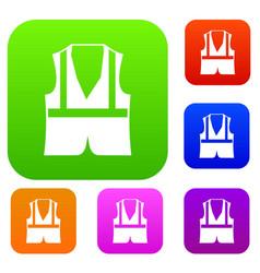 Vest set collection vector