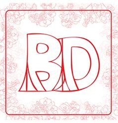 BD monogram vector image