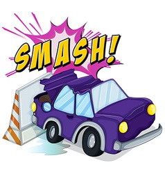 Smashed cars vector