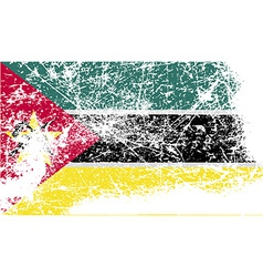 Flag of mozambique with old texture vector