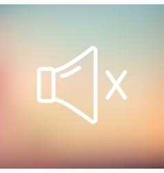Mute sound thin line icon vector