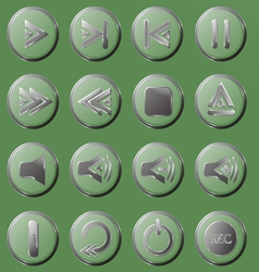 Set of the transparent buttons vector